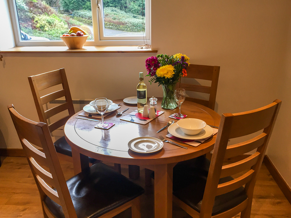 Dining area in the kitchen of Toll Barn Cottage